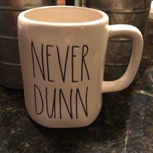 Rae Dunn NEVER DUNN mug